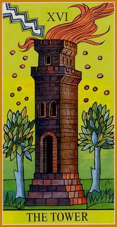 XVI. The Tower: Dame Fortune's Wheel Tarot