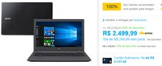 """Notebook Acer E5-574G-574L Intel Core i5 8GB 1TB LED 156"""" Windows 10  Placa de Vídeo NVIDIA GeForce 920M com 2 GB << R$ 219999 >>"""