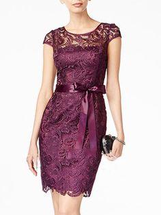 Robe Moulante en Dentelle Manches Courtes avec Nœud Mini Robes, Couture, Formal Dresses, Womens Fashion, Hair, Cakes, Grease Fancy Dress, Party Dress, Lace