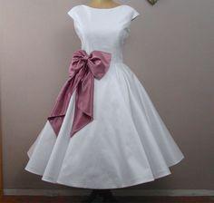 Lola-Rose Tea length wedding dress by RyleyandFlynnVintage on Etsy https://www.etsy.com/listing/118145960/lola-rose-tea-length-wedding-dress
