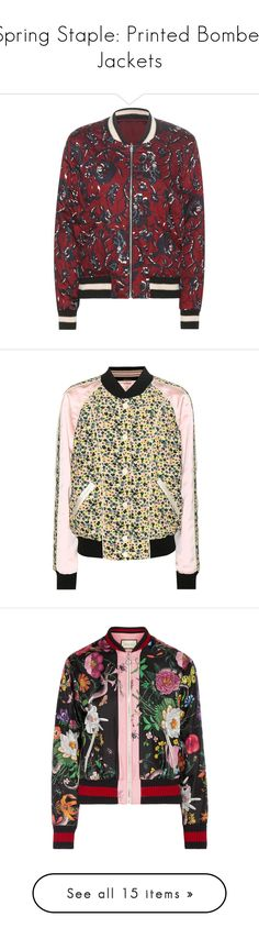 """""""Spring Staple: Printed Bomber Jackets"""" by polyvore-editorial ❤ liked on Polyvore featuring printedbomberjackets, outerwear, jackets, red, red cotton jacket, cotton bomber jacket, bomber style jacket, blouson jacket, bomber jacket and multicoloured"""