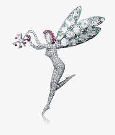 Fairy clip 1940, Van Cleef & Arpels' Collection  #TuscanyAgriturismoGiratola