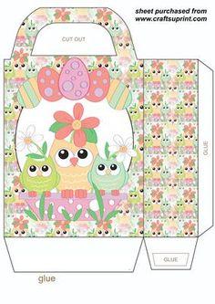 Easter owl gift bag 4 on Craftsuprint designed by Stephen Poore -