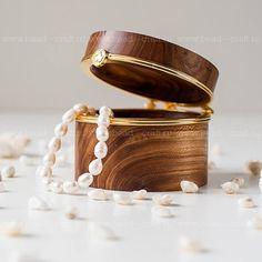 Olive Ash Wedding Rings Box $29.5