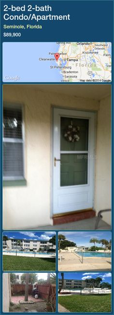 2-bed 2-bath Condo/Apartment in Seminole, Florida ►$89,900 #PropertyForSaleFlorida http://florida-magic.com/properties/44126-condo-apartment-for-sale-in-seminole-florida-with-2-bedroom-2-bathroom