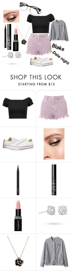 """""""RP"""" by katlyn-clifford on Polyvore featuring Alice + Olivia, Miss Selfridge, Converse, MAC Cosmetics, NARS Cosmetics, Smashbox and Masquerade"""