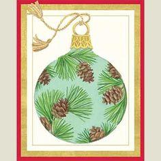 Pine Cone Ornament Christmas Cards