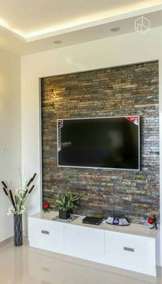 Living Room Wall Units Furniture New Tv Wall Stone Wall Design, Tv Wall Design, Ceiling Design, Door Design, Living Room Wall Units, Living Room Tv Unit Designs, Living Room Decor, Home Room Design, House Design