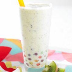 Fresh Kiwifruit Bubble Tea