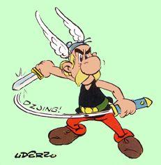 Asterix in Het geschenk van Caesar, tekening van Uderzo