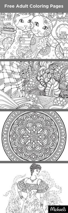 Stressed? Kick back and relax with the hottest trend in arts and crafts. Coloring has proven to reduce stress and help you relax, all while bringing out your creativity. Get started with these free downloadable coloring pages. Find tons of fun coloring books, markers, crayons and colored pencils at your local Michaels store. Happy coloring!