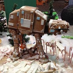 Gingerbread AT-AT. This is likely the kind of holiday ginger bread creations we'll be making at my house.