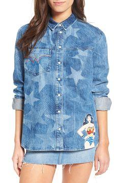 New Paul Joe Sister Wonder Woman Denim Shirt BLUE MULTI fashion online. [$245] new offer from Newoffershop<<