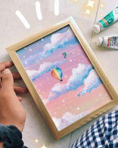 mini paintings aesthetic \ mini p Easy Canvas Art, Simple Canvas Paintings, Small Canvas Art, Cute Paintings, Mini Canvas Art, Acrylic Painting Canvas, Diy Painting, Painting Flowers, Painting Tools