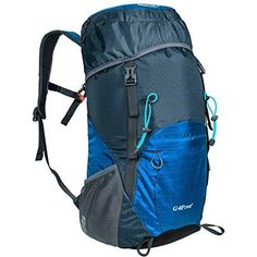 66bb0cc9ea13 Vbiger 60L Outdoor Backpack Waterproof Backpacking Pack Travel Daypack for  Climbing