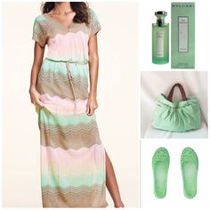 Mint is the perfect shade for an effortlessly breezy look on Spring day....  We are loving this Mint and nude woven maxi dress with a casual slouch bag to match.  Spritz yourself with a fresh Green Tea scent from Bulgari and you're ready to relax in style!  Click here to shop for your Mox today:  http://moxonline.com.au/twist   Bag: Etsy/Acamour  Dress: Victoria's Secret Scent: Bulgari