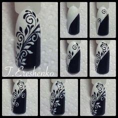 26 Elegant Black Nail Art Designs that You'll Love - Bellest.- 26 Elegant Black Nail Art Designs that You'll Love Nail Art Diy, Easy Nail Art, Cool Nail Art, Diy Nails, Nail Nail, Nail Polish, Fancy Nails, Love Nails, Pretty Nails