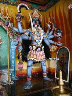 Durga Kali, Kali Hindu, Kali Mata, Maa Kali Images, Mata Rani, Goddess Art, Air Brush Painting, Creepy Things, God Pictures