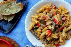 Spring Pasta - Campanelle Pasta with Asparagus, Peas and Pancetta