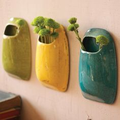 I pinned this 3 Piece Dierde Wall Vase Set from the Kalalou event at Joss and Main! Infuse your kitchen or three-season porch with homespun style with the Dierde Wall Vase Set. Artfully crafted from ceramic, these charming accents showcase pocket-like silhouettes and rustic vibrant glazes.
