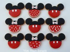 Ms. Fox's Sweets: Mickey & Minnie Mouse Cookies