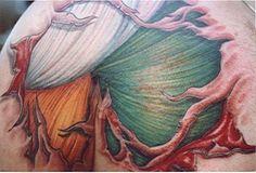 A cool take on a skin rip and realistic muscles in the irish flag colors - - #talesofthetatt #tattoo  #Irish #StPatricksDay- www.talesofthetatt.com Italian Tattoos, Irish Tattoos, Great Tattoos, Body Art Tattoos, Irish Flag Colors, Patriotic Tattoos, Flag Tattoos, Tatoos, Rip Tattoo