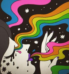 Oliver Hibert ✨✨ vibes for the downstairs bathroom Hippie Painting, Trippy Painting, Painting & Drawing, Small Canvas Art, Diy Canvas Art, Trippy Drawings, Art Drawings, Psychedelic Art, Posca Art