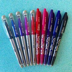 """Papelaria Unicórnio 🌈🦄 on Instagram: """"Quem vence esse duelinho? Já conhece as canetas apagáveis? Temos todas essas disponíveis no site! Passa o dedinho 👉🏼 para o lado para…"""""""
