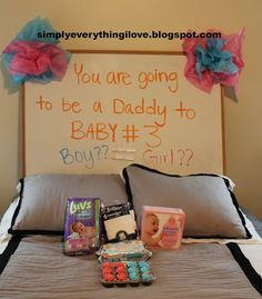 Pregnancy announcement ideas... Not saying I'm pregnant or even trying, but you never know ;)