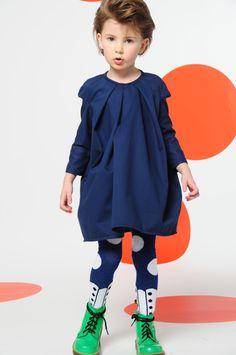 BOdeBO kid fashion WINTER 14/15 navy dress