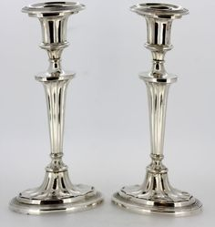 Currently at the #Catawiki auctions: Pair of silver candlesticks, Italy, 1940's