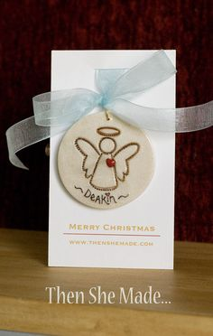 Personalized Angel Tree Ornament by Thenshemade on Etsy, $8.50