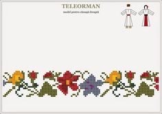 Folk Embroidery, Cross Stitch Embroidery, Embroidery Patterns, Stitch Patterns, Cross Stitch Geometric, Cross Stitch Borders, Cross Stitch Designs, Mexican Pattern, Creative Crafts