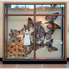 #anthroearthday display window at #anthropologie #clothing #butterfly #showcase