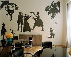 Incorporating silhouettes into children's play spaces (World Exposition by Kara Walker)