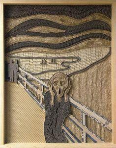 Beautiful Artwork from Reclaimed Cardboard by Mark Langan