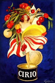 Cirio Vintage French Poster by Leonetto Cappiello (blue)