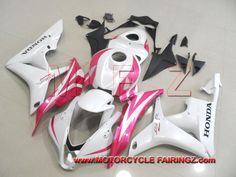 2007 2008 HONDA CBR600RR Motorcycle Body Kits Pearl White With Pink FFKHD009