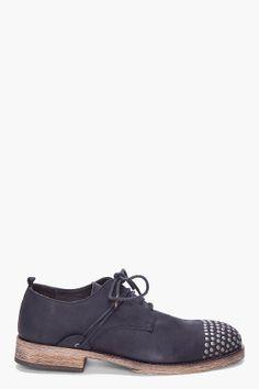 KSUBI Black Rustico Studded Shoes