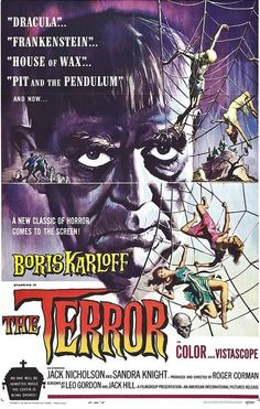 The Terror (1963) Directed and Produced by #RogerCorman FrancisFordCoppola #DennisJacob #MonteHellman #JackHill #JackNicholson Starring #BorisKarloff #JackNicholson #SandraKnight #DickMille Hollywood #hollywood #picture #video #film #movie #cinema #epic #story #cine #films #theater #filming #movies #moviemaking #movieposter #movielover #movieworld #movielovers #movienews #movieclips #moviemakers #drama #filmmaking #cinematography #filmmaker #screen #screenplay Scary Movies, New Movies, Horror Movies, Sandra Knight, Leo Gordon, Jack Hill, Cult Of Personality, Roger Corman, Movie Talk