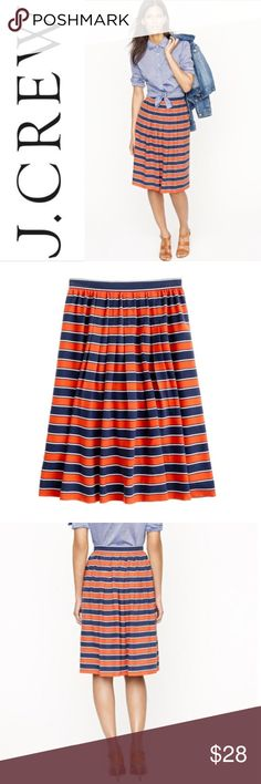 J. Crew Gondola Stripe Skirt ✔️Side Zip  ✔️Lined  ✔️100% Silk ✔️No Holes, Stains or Damages J. Crew Skirts