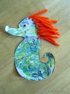 Craft, Interrupted: Funner School ~ Ocean Week: Seashells & Sea Creatures Part 2