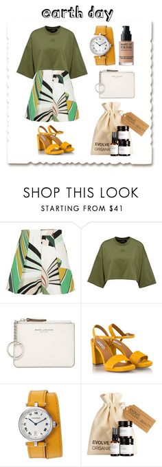 """EARTH DAY"" by harshithasuresh ❤ liked on Polyvore featuring Emilio Pucci, Marc Jacobs, Fratelli Karida and MAKE UP FOR EVER"