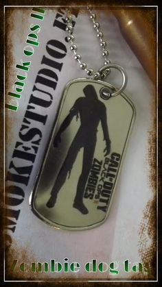 call of duty 2 black ops zombie dog tags by Gunsmokestudio on Etsy, $19.50