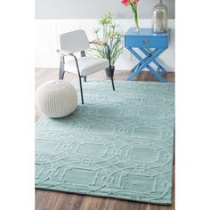 nuLOOM Handmade Abstract Trellis Wool Rug (7'6 x 9'6) - Overstock Shopping - Great Deals on Nuloom 7x9 - 10x14 Rugs