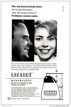 Original-Werbung/ Anzeige 1963 - 1/1-SEITE - LACALUT MUNDWASSER - ca. 150 X 230 mm