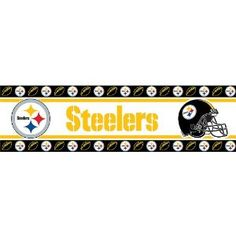 Pittsburgh Steelers Wall Border With A Gray Wall