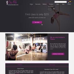 Pole Dancing Studio Landing Page by Anastasia Stepanova