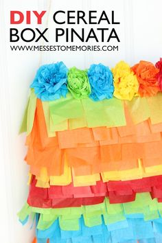DIY Cereal Box Pinata--An easy pinata to put together for a party!