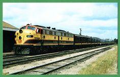 Kansas City Southern Railroad Southern Belle passenger train of the 1960s